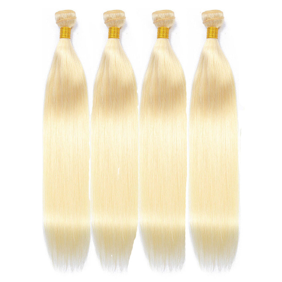 lumiere 4 Bundles Blonde Color 613 Straight Hair Virgin Human Hair Extensions