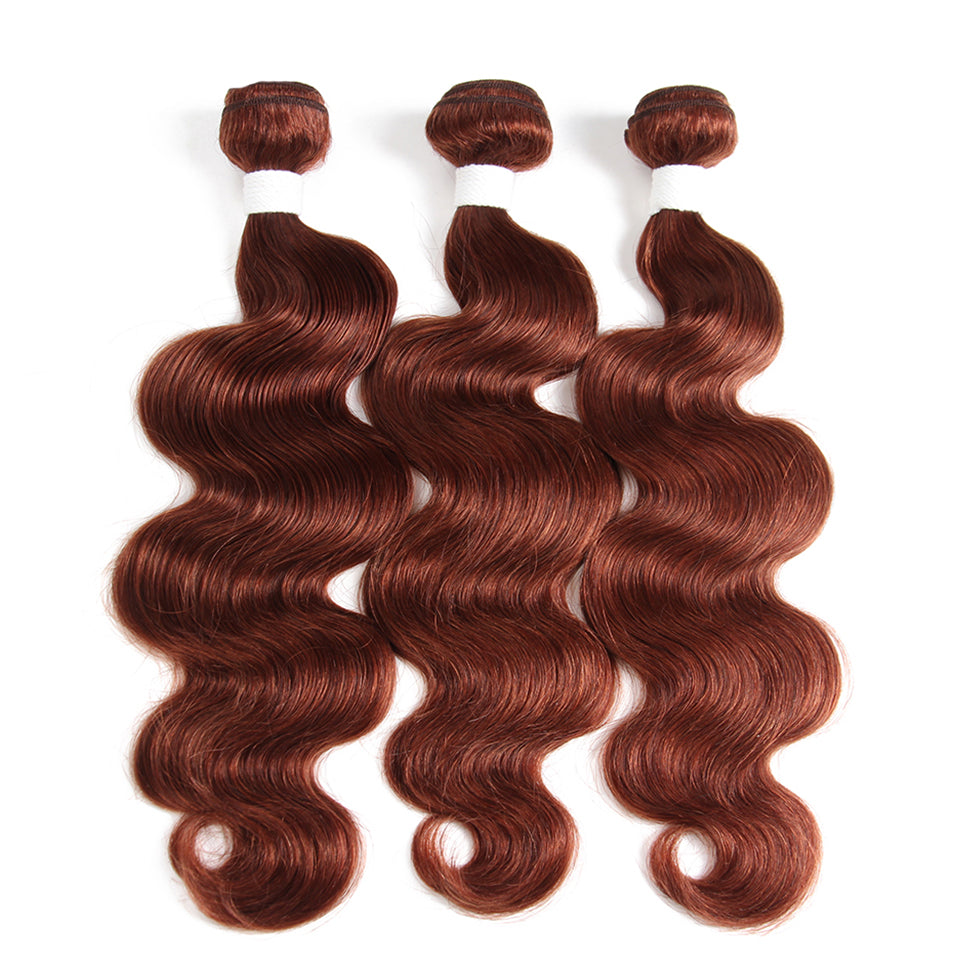 lumiere Color #33 body wave 4 Bundles 100% Virgin Human Hair Extension