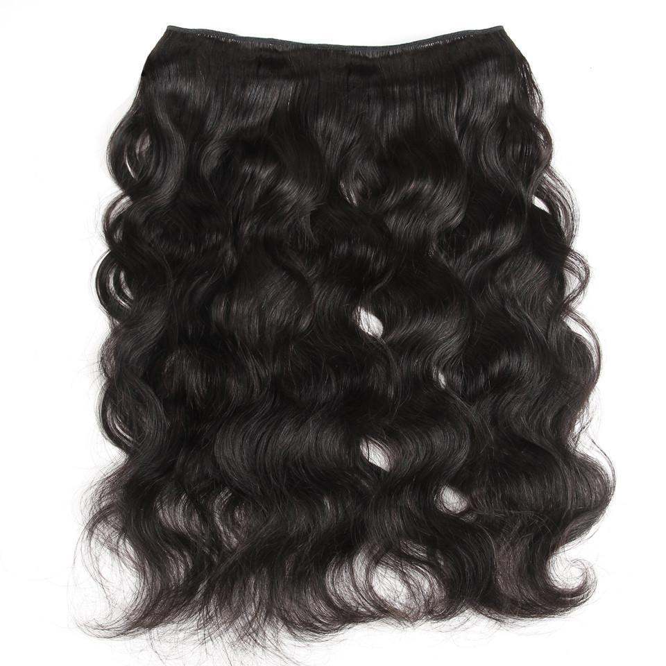 lumiere Hair Brazilian Body Wave Virgin Hair 4 Bundles with 360 Lace Front Closure Human Hair - lumiere Hair