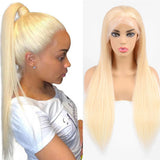 Straight Hair 613 Blonde 360 Lace Front human hair Wigs transparent lace 150% Density