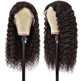 deep wave Human Hair Wigs 4x4x1 T Part Lace closure Wig For Black Women Prelucked Hairline