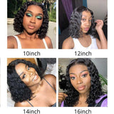 Bob Curly Lace Front Human Hair Wigs For Women 4x3x1 T part lace 100% virgin human hair