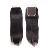 lumiere Hair One Piece Straight Virign Human Hair 4x4 Lace Closure - lumiere Hair