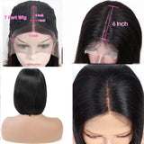 Straight Lace Front Bob Wigs Brazilian T Part Lace Front Wigs For Black Women