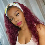 Sugar Plum Color Affordable Headband Wig human hair wigs (Get 2 Free Trendy Headband)