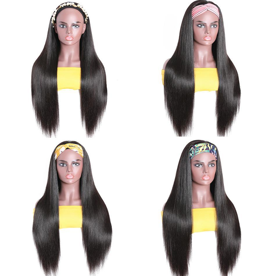 Lumiere Headband Human Hair Wig Glueless Brazilian Straight Human Hair Wigs for Women