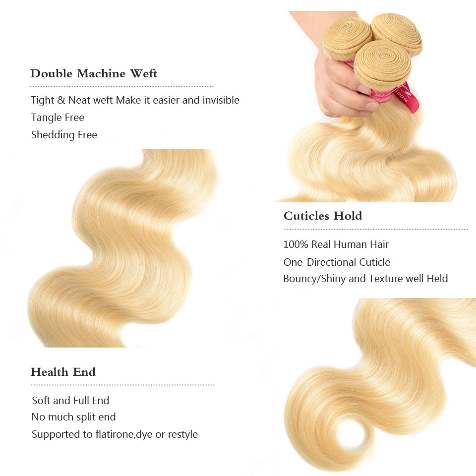 lumiere one Piece Blonde Color 613 Body Wave Virgin Human Hair Extension