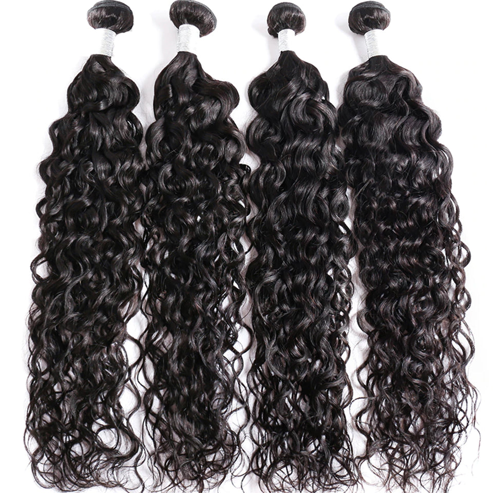 lumiere Brazilian Body Wave Virgin Hair 3 Bundles with 4X4 Lace Closure