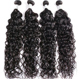 Brazilian Body Wave Virgin Hair 3 Bundles with 4X4 Lace Closure