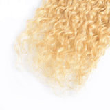 613 Blonde Water Wave 2 Bundles human hair with transparent lace