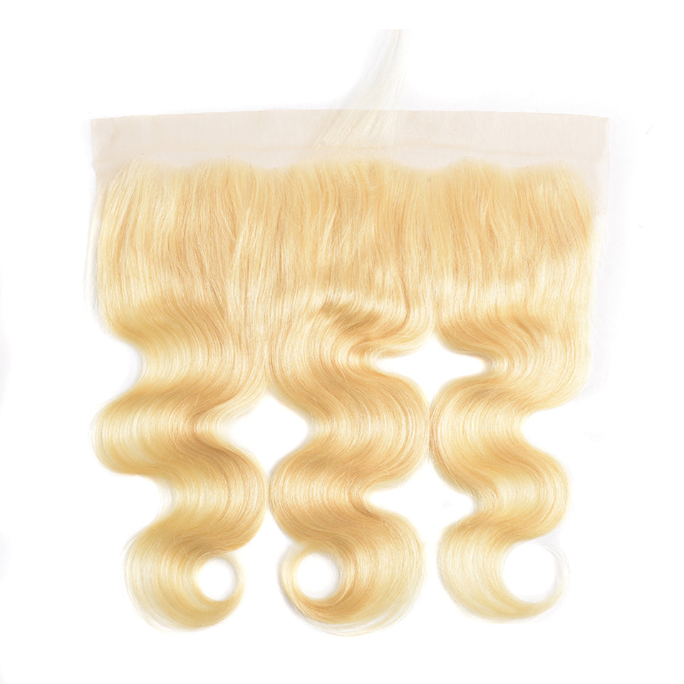 One Piece Blonde Color 613 Body Wave 13*4 Frontal Virgin Hair