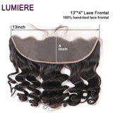 Lumiere virgin Hair Loose Wave Bundles With Frontal 13*4 Ear To Ear Closure
