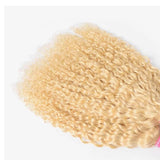 613 Blonde Color Water Wave 2 Bundles with 4x4 Closure Virgin Human Hair