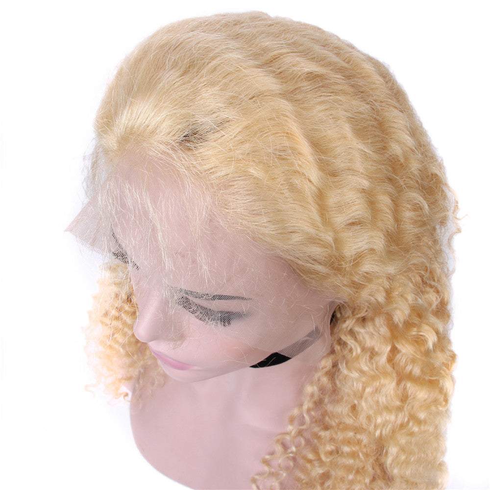 T Part Wig 613 Blonde Deep Wave Lace Wigs Pre Plucked With Baby Hair