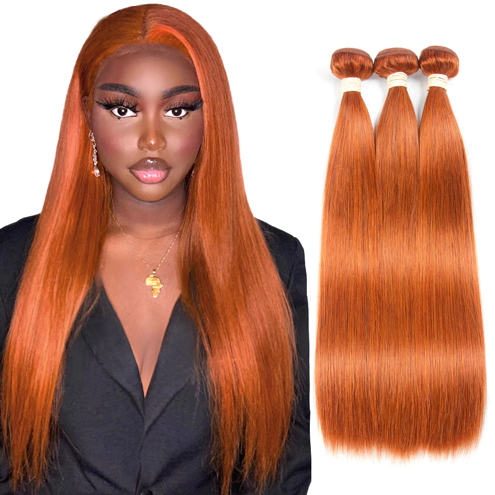 lumiere #350 Straight 3 Bundles 100% Virgin Human Hair Extension