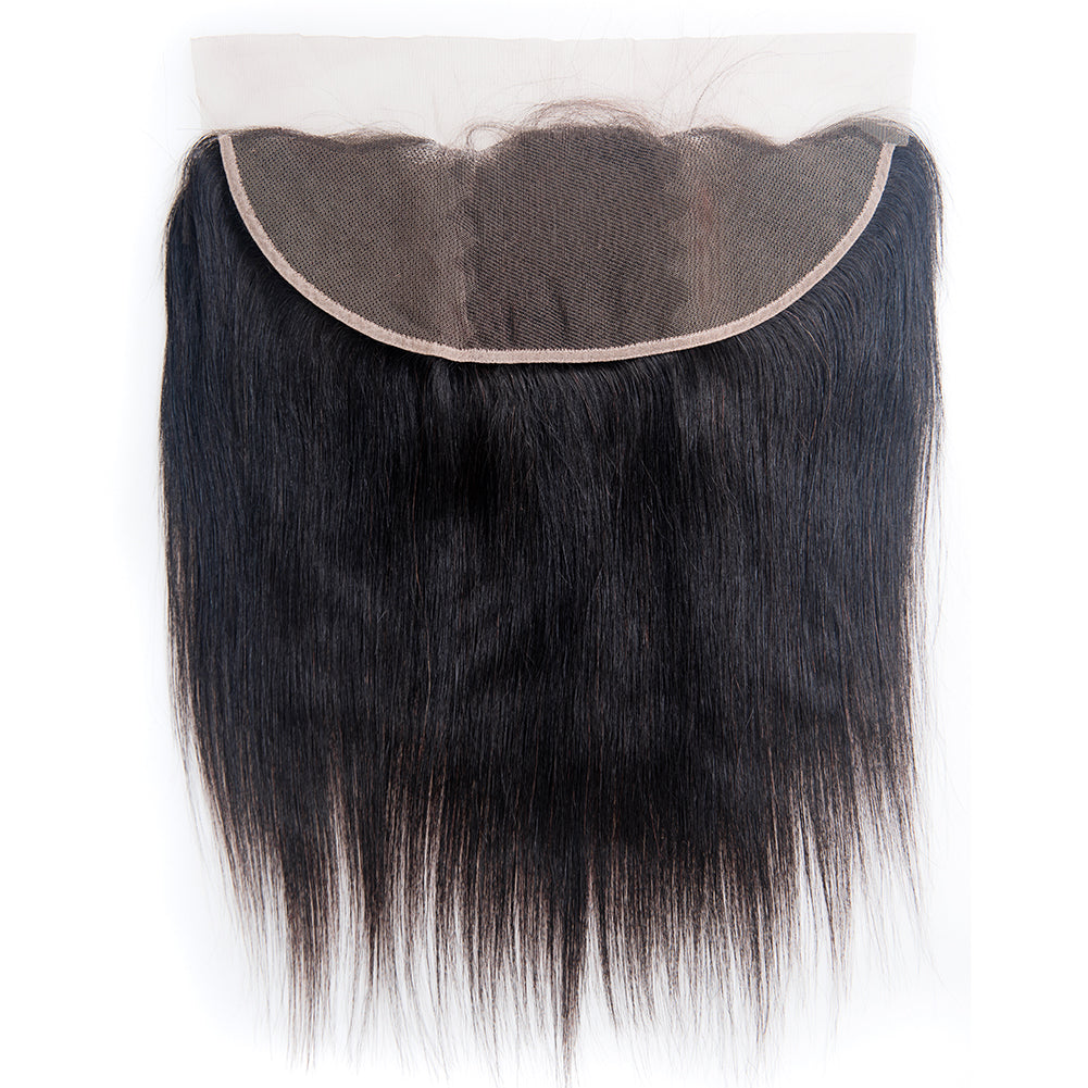 Straight hair 4 Bundles With frontal 34 36 38 40 Long Human Hair Weave Bundles