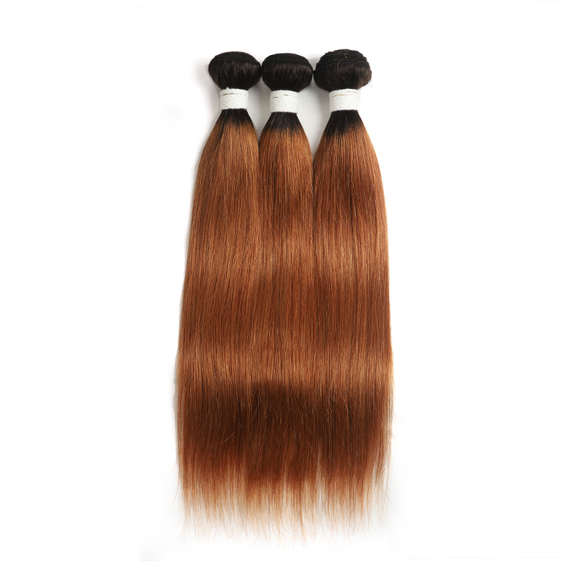 1B/30 Ombre Straight Hair 3 Bundles 100% Virgin Human Hair Extension