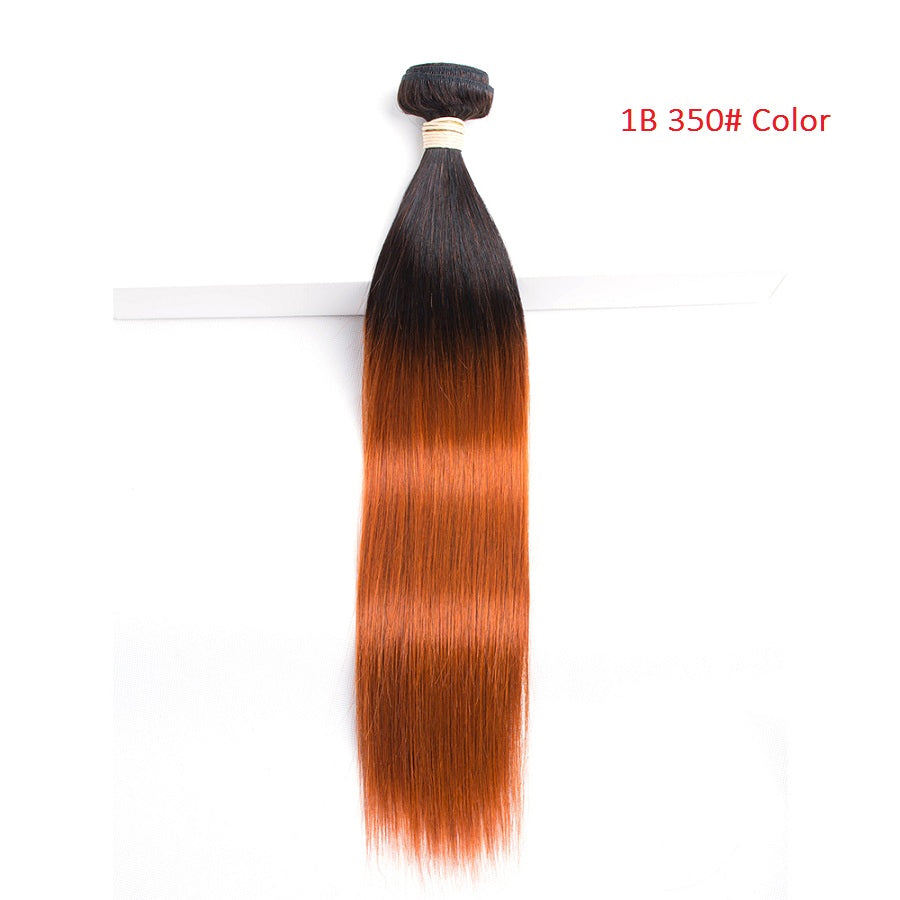 lumiere 1 Piece 1B/350 Ombre Straight Virgin Human Hair Extension