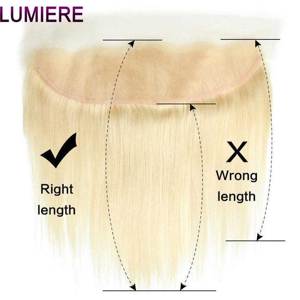lumiere Hair One Piece Blonde Color 613 Straight Hair 13*4 Frontal Virgin Human Hair