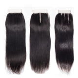 lumiere Hair One Piece Straight Virign Human Hair 4x4 Lace Closure