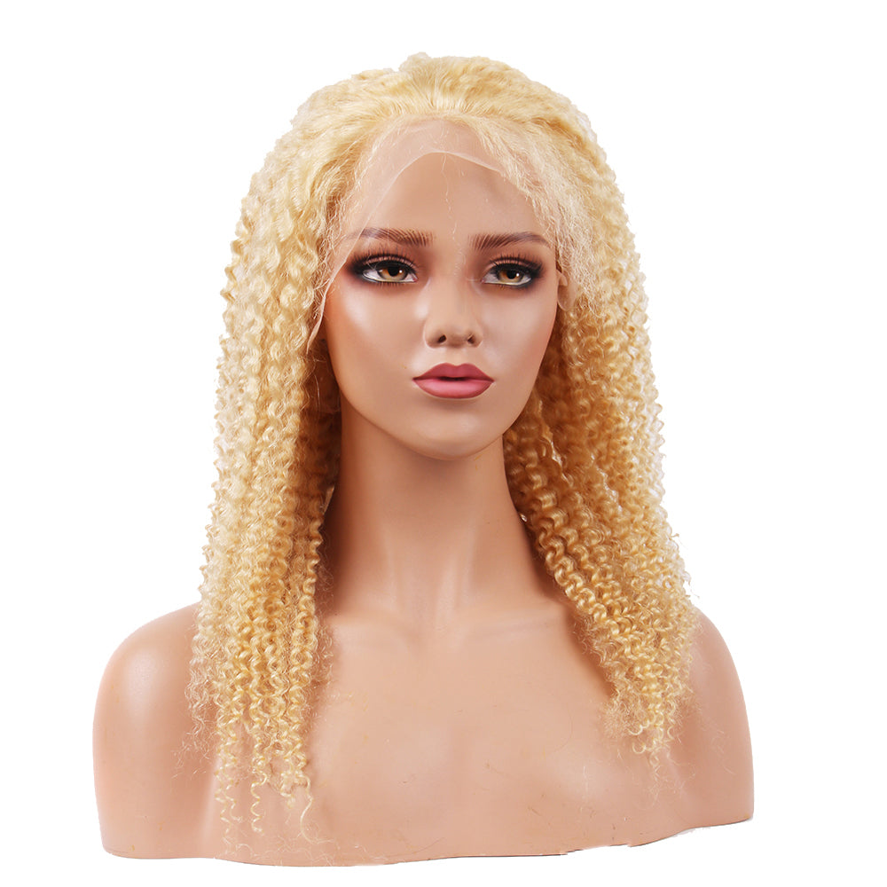 Lace Frontal Wig For Black Women T Part Wig 613 Blonde Kinky Curly Lace Wigs