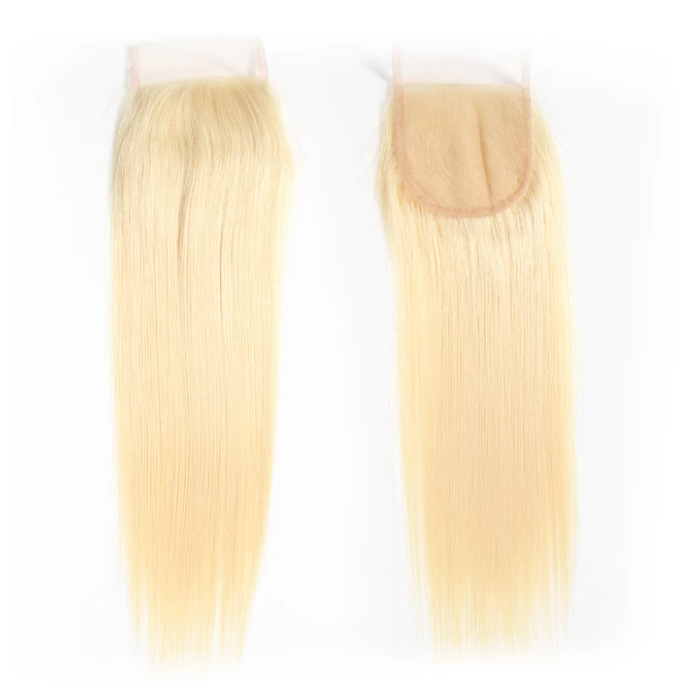 lumiere 613 Blonde straight 4 Bundles with 4*4 Closure Human Virgin Hair