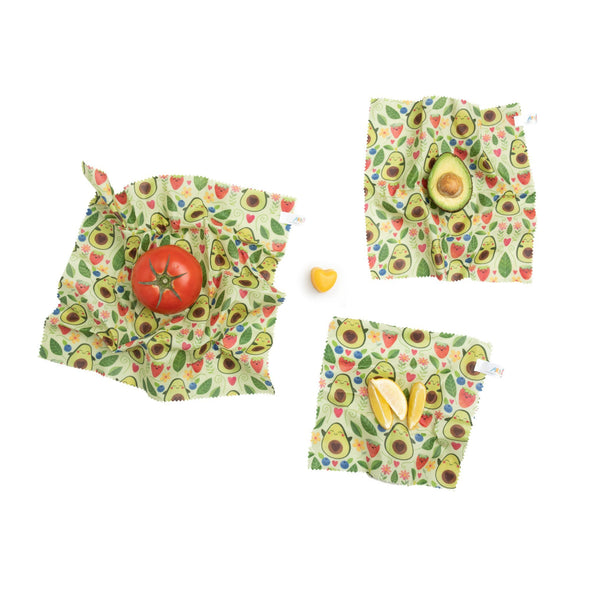 Beeswax Wraps - Elisabeth Fredriksson - Avocado (Set of 3)