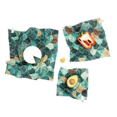 Beeswax Wraps - Monika Strigel - Really Mermaid (Set of 3)