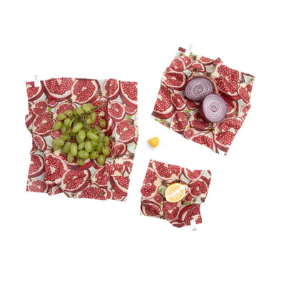 Beeswax Wraps - Mark Ashkenazi - Pomegranite (Set of 3)