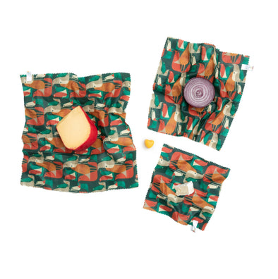 Beeswax Wraps - Budi Kwan - Flock of Birds (Set of 3)