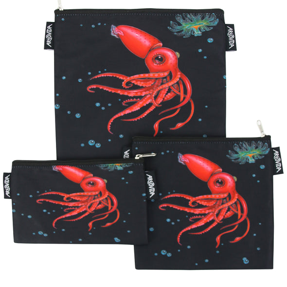 Sandwich Baggie Set - Caia Koopman - Strawberry Squid (Set of 3)