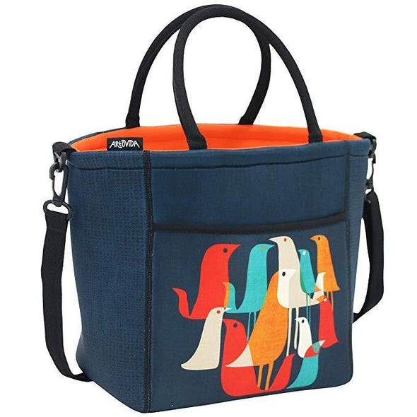 Flock Of Birds - Tica Collection Extra Large Neoprene Lunch Tote