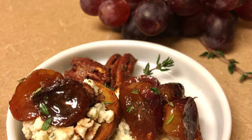 Roasted Grape & Boursin Cheese Crostini