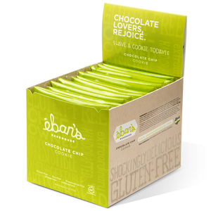 Individually packed gluten-free cookies from Éban's Bakehouse in opened point of purchase packaging