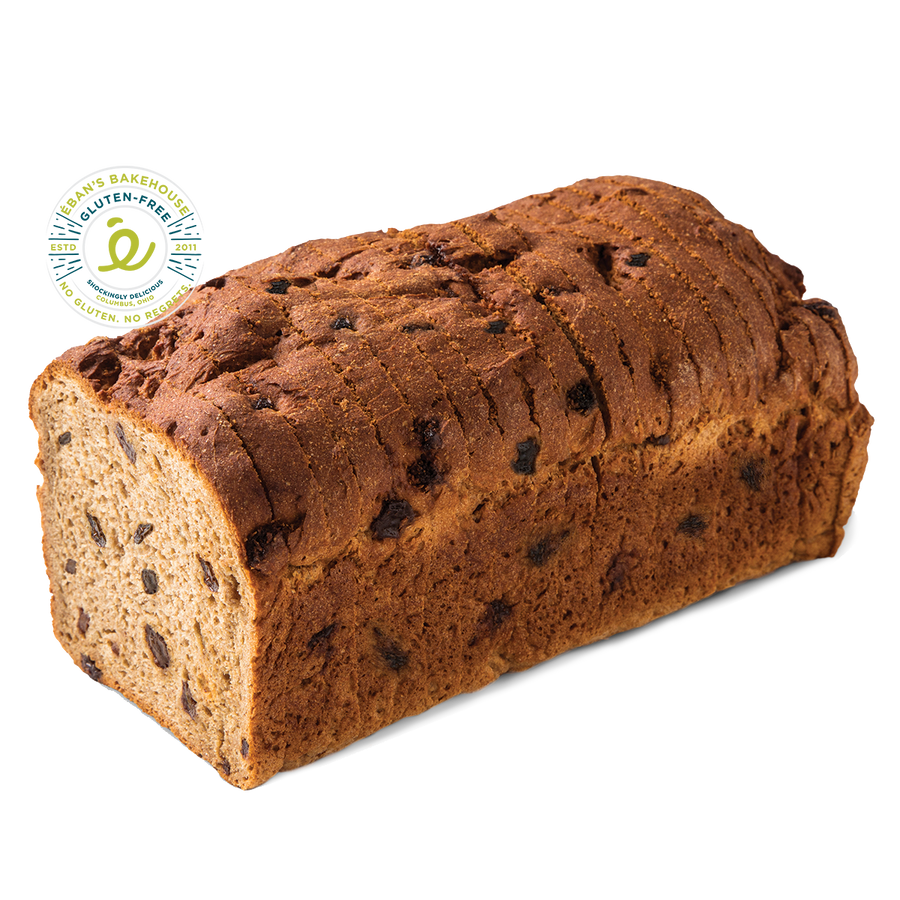 Gluten-free Cinnamon Raisin Bread from Éban's Bakehouse