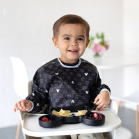 Bumkins: Sleeved Bib (Mickey Mouse BW) - Fancy Tot