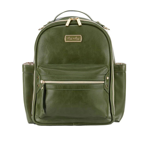 Itzy Ritzy: Mini Diaper Backpack (Olive) 'Crew'