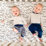 Bebe au Lait: Crib Sheet (Leaves) - Fancy Tot