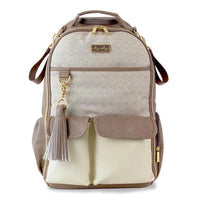 Itzy Ritzy: Boss Diaper Bag Backpack (Vanilla Latte) - Fancy Tot