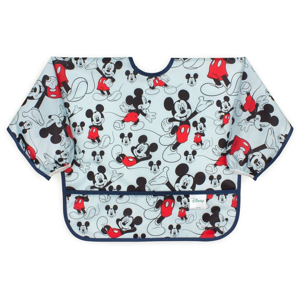 Bumkins: Sleeved Bib (Mickey Mouse Classic) - Fancy Tot