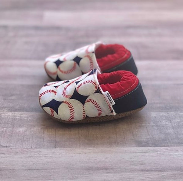 TBMS: Low Tops (Baseball) (6-9 Months) - Fancy Tot