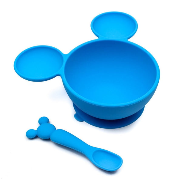 Bumkins: Silicone First Feeding Set (Mickey Mouse) - Fancy Tot