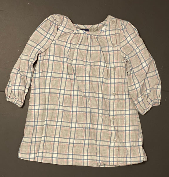 Baby Gap Plaid Dress (Plaid/Grey & Pink)