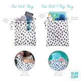 Bumkins: Wet Bag (Mickey Mouse BW) - Fancy Tot
