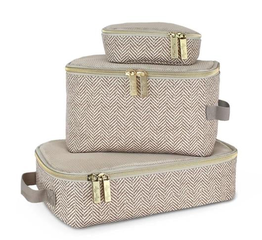 Itzy Ritzy: Packing Cubes (Taupe) - Fancy Tot