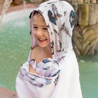 Bebe au Lait: Hooded Towel (2+ Yrs) (Space) - Fancy Tot