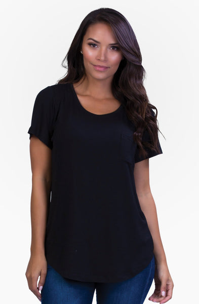 Belly Bandit: Perfect Nursing Tee (M) (Black)