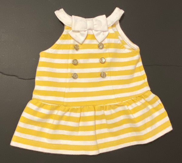 Janie & Jack Nautical Dress (Yellow & White Stripe)