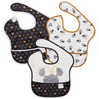 Bumkins: Superbib 3-Pack (Minnie Mouse BW) - Fancy Tot