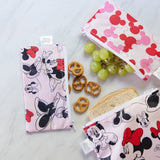 Reusable Snack Bag, Small 2-Pack (Minnie Mouse) - Fancy Tot